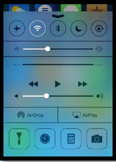 Click Swipe Share - iPhone Flashlight Tutorial, iPhone Control Center