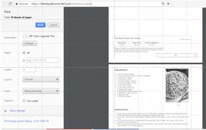 Print Options (CTRL + P)